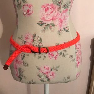 J. Crew Accessories - J. Crew Orange Rope Belt